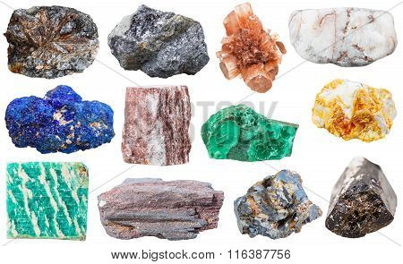 Collection Of Various Mineral Rocks And Stones