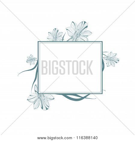 Lily Flower Vintage Frame
