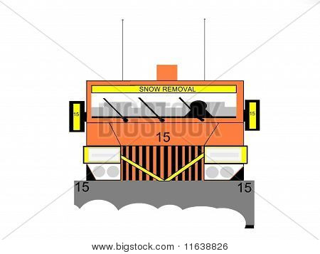 Snow and Ice Removal Truck With Snow Plow