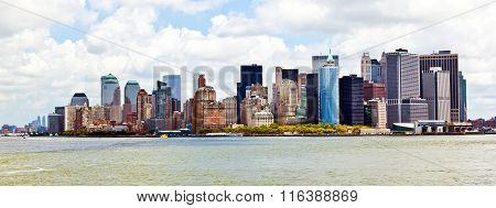 New York City Panorama With Manhattan Skyline Over Hudson
