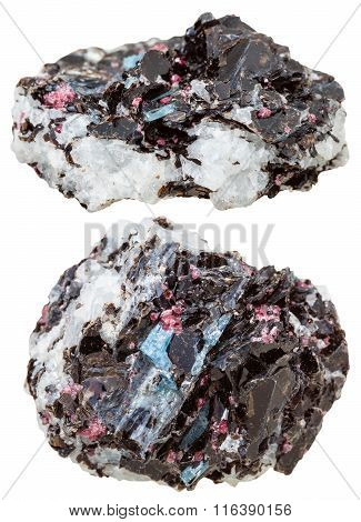Kyanite, Biotite, Tourmaline Crystals At Gneiss