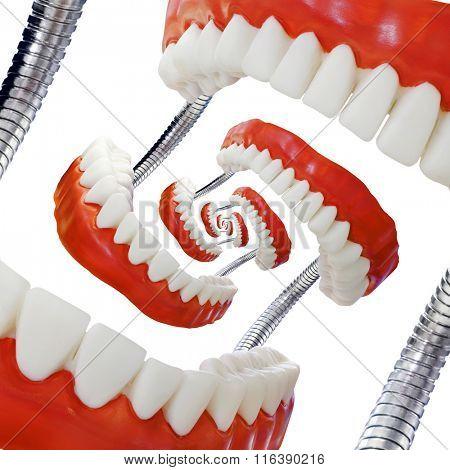 Educational Denture Model Droste Effect