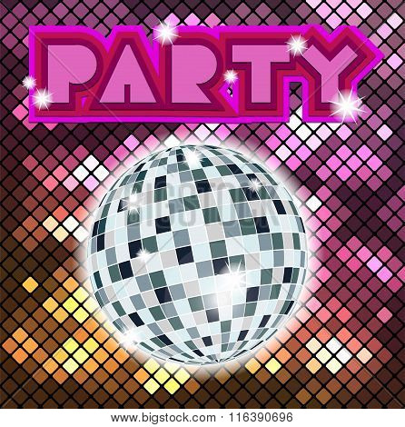 Colorful Mosaic Background For Party.