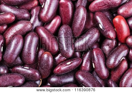 Many Raw Kidney Beans Close Up