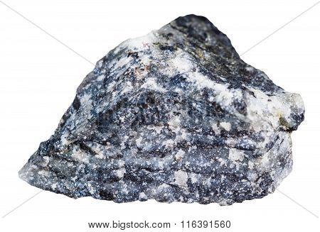 Pebble Of Stibnite (antimonite) Mineral Stone