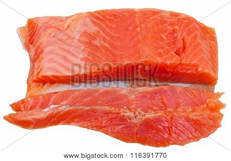 Slice And Piece Of Salted Trout Red Fish Fillet