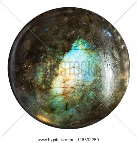 Round Bead From Labradorite Natural Mineral Gem
