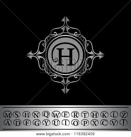 Monogram Design Elements, English Letters. Calligraphic Elegant Line Art Logo Design.  Business Sign