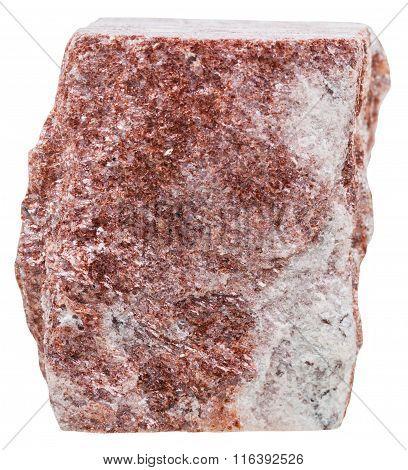 Red Aventurine Quartzite Mineral Stone Isolated