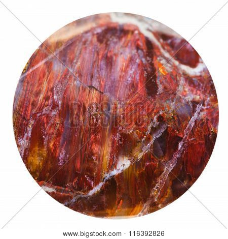 Bead From Red Sunstone Natural Mineral Gem Stone