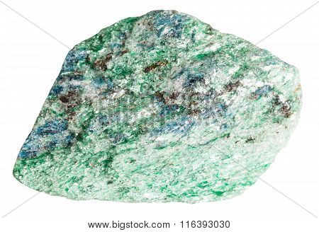 Fuchsite (chrome Mica) Mineral Stone Isolated