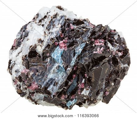 Gneiss Rock With Various Crystals Mineral Stone
