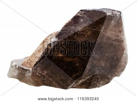 Morion (smoky Quartz) Mineral Crystal Isolated