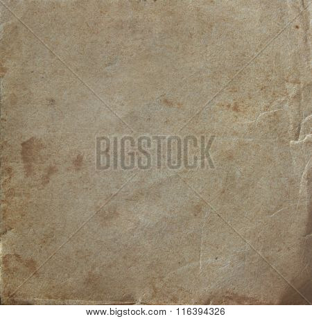 Coarse texture of the old paper