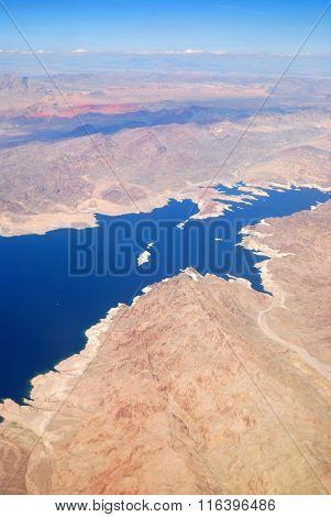 Las Vegas Lake aerial view