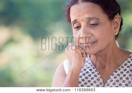 Worried Old Woman