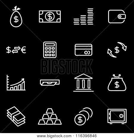 Vector Line Money Icon Set