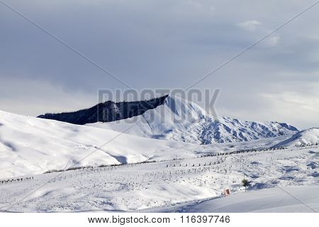Ski Resort In Gray Day
