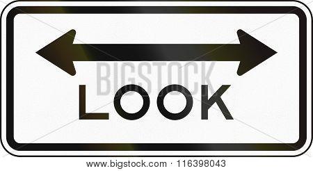 United States Mutcd Regulatory Road Sign - Look