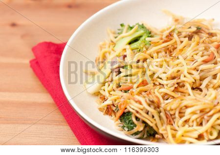 Fried Vegetable Chow Mein