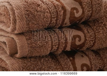 Stack Towels With Texture