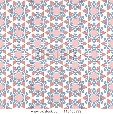 Abstract Six-pointed Star Pattern