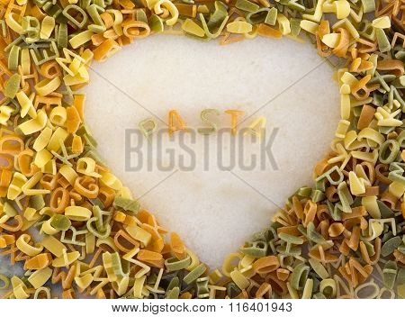 Heart Shape Pasta Sign