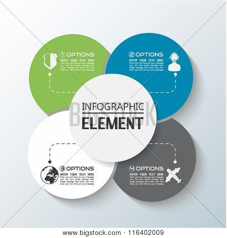 Element For Infographic Chart Template Geometric Figure Rims Stacked Second Edition