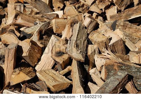 piles of fire wood background