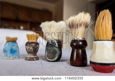 New And Old Shaving Brush