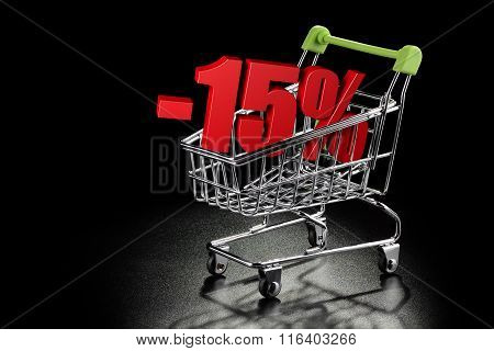 Shopping Cart With 15 % Percentage
