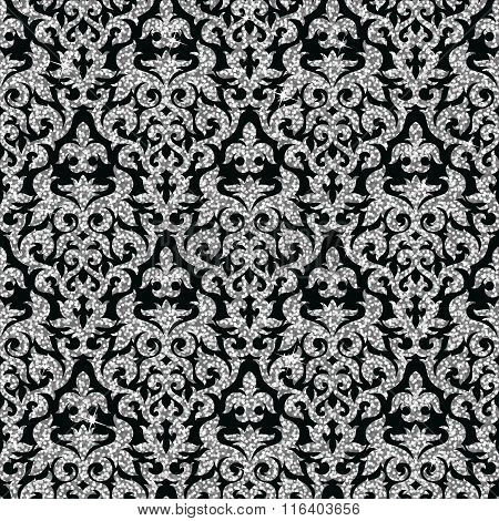 floral silver wallpaper