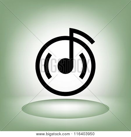 Pictograph of music note