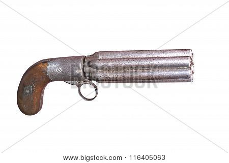 West-european Sextuple Gun Of 19th Century