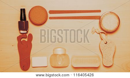 Pedicure Accessories Tools Top View