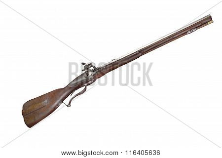 West-european Rifled Carabine (short Rifle) Of 18Th Century
