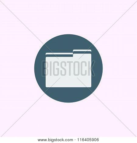 Folder Icon On Blue Circle Background