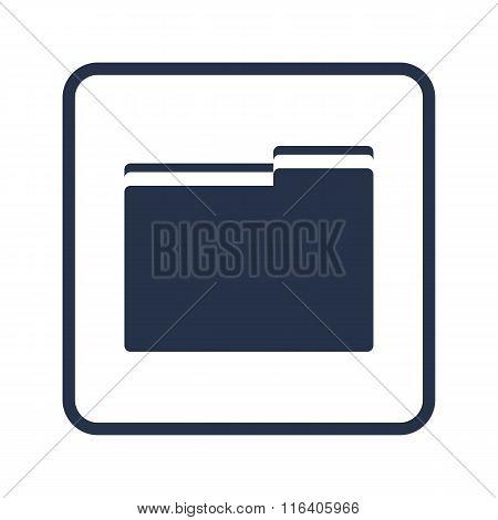 Folder Icon On Rounded Rectangle Background