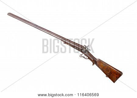 Hunting Double-barrelled Gun With Path