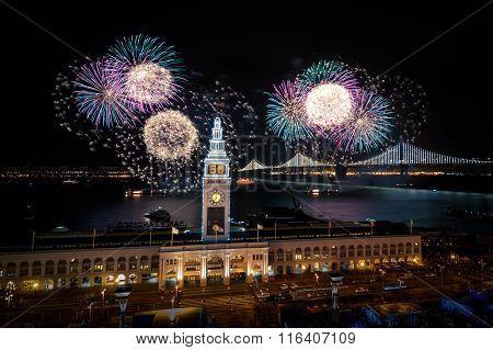 Super Bowl City Fireworks
