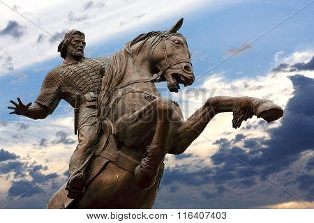 RYAZAN   -   MAI 11:Evpatiy Kolovrat - Ryazan nobleman governor and the legendary hero who defended Ryazan from the Mongol invasions in the thirteenth century   -  on Mai 11, 2013 in Ryazan