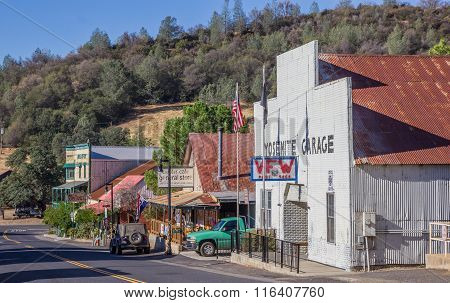 Main Street In Coulterville, California
