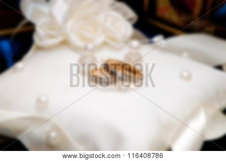 Blurred Image Of Wedding Rings
