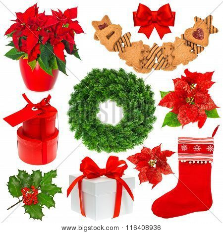 Christmas Collection. Set Of Decoration Objects