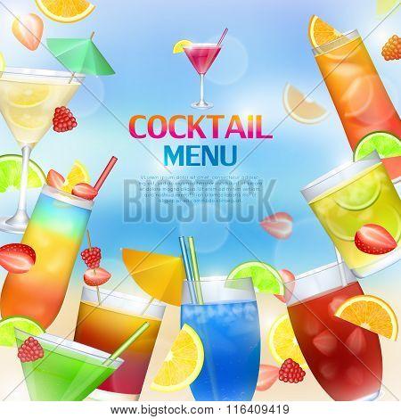 Cocktails menu concept