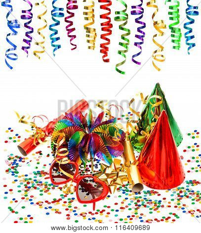 Party Decoration With Garlands, Streamer, Confetti, Cracker