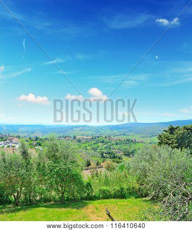 Tuscany Landscape In San Gimignano