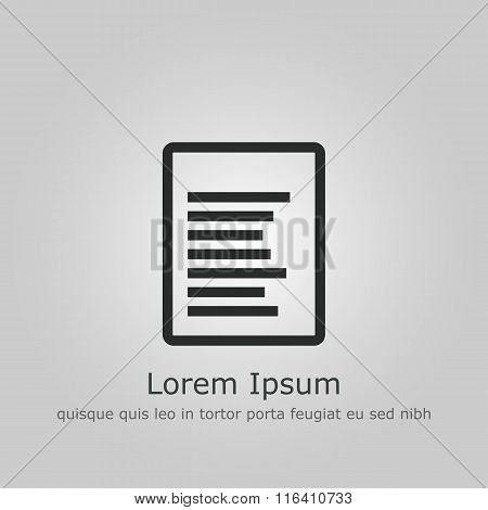 File Icon On Grey Background