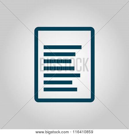 File Blue Icon On Grey Background