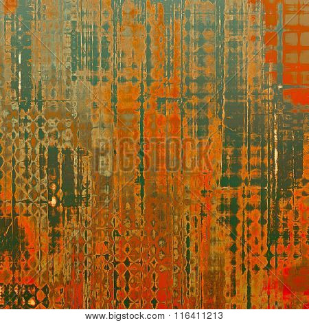 Old abstract grunge background, aged retro texture. With different color patterns: yellow (beige); brown; red (orange); gray; green